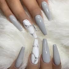 gray acrylic nails - Google Search
