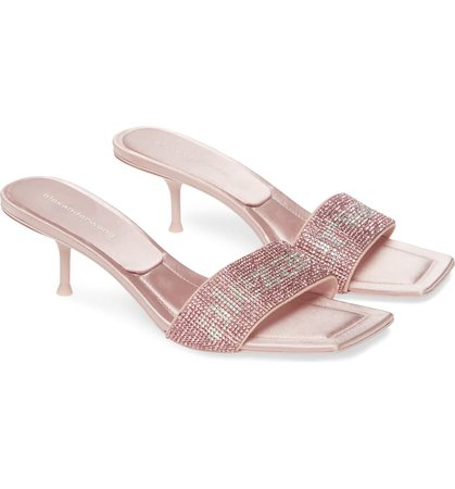 Alexander Wang Jessie Crystal Kitten Heel Sandal (Women) | Nordstrom