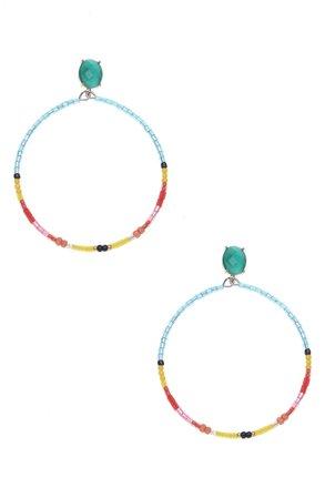 Nakamol Chicago Multicolor Beaded Hoop Earrings | Nordstrom