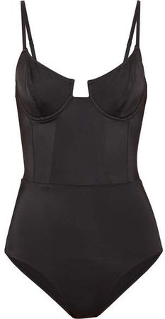 Re/done The Hollywood Swimsuit - Black