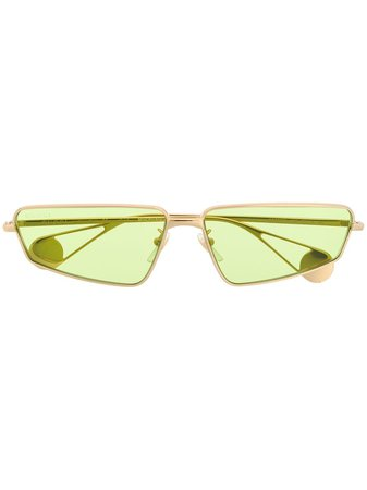 Gucci Eyewear Green Tinted Sunglasses