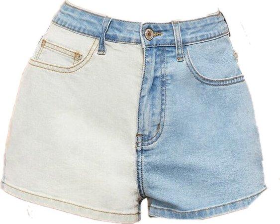 ⛓2 tone denim shorts