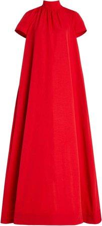 Staud Ilana High Neck Maxi Dress