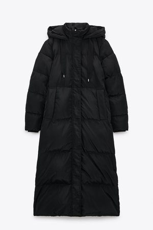 WATER AND WIND PROTECTION LONG DOWN COAT | ZARA United States BLACK