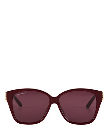 Balenciaga Oversized Round Cat Eye Sunglasses | INTERMIX®