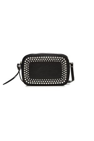Small Embellished Leather Camera Bag Gr. One Size