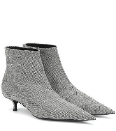 Knife Checked Ankle Boots | Balenciaga - Mytheresa