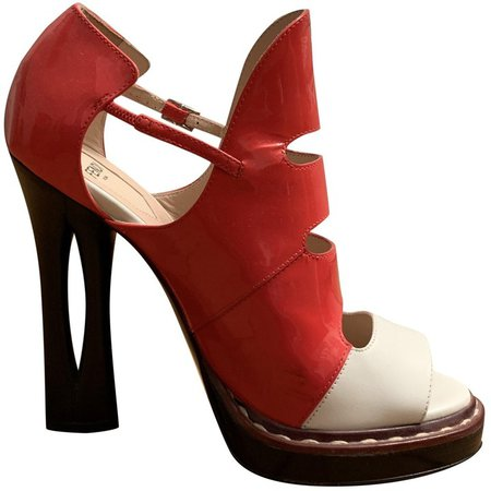Multicolour Patent leather Sandals