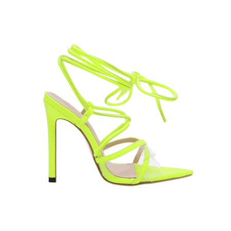 JESSICABUURMAN - OPRIH LACE UP HIGH HEEL SANDALS