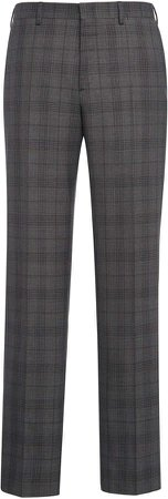 Brioni Virgin Wool Checked Trousers