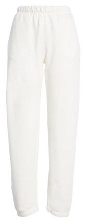 white jogging pants