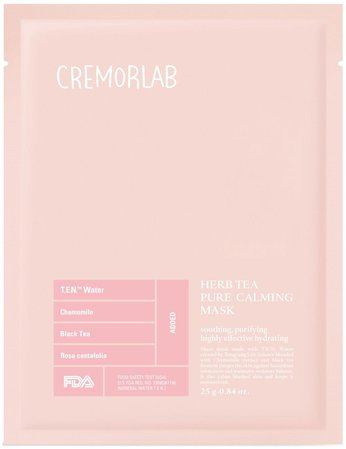 Cremorlab Herb Tea Pure Calming Mask - Peach & Lily