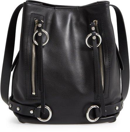 Jett Leather Bucket Bag