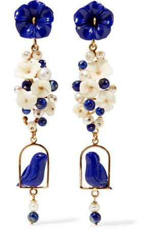 Of Rare Origin   Nesters gold vermeil multi-stone earrings   NET-A-PORTER.COM