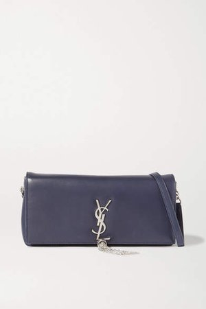 Kate Leather Shoulder Bag - Navy