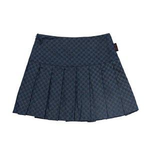 PomPon Skirt - Navy Checkerboard