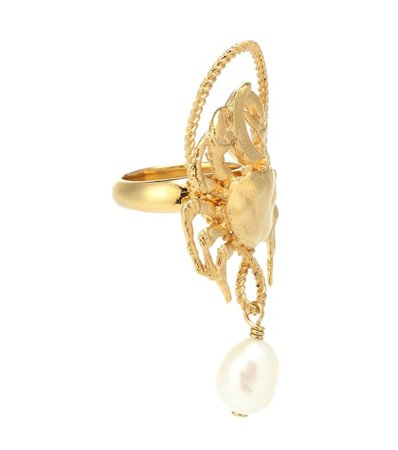 Pearl pendant ring
