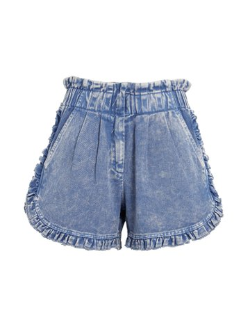 Sea Idun Denim Ruffle Shorts | INTERMIX®