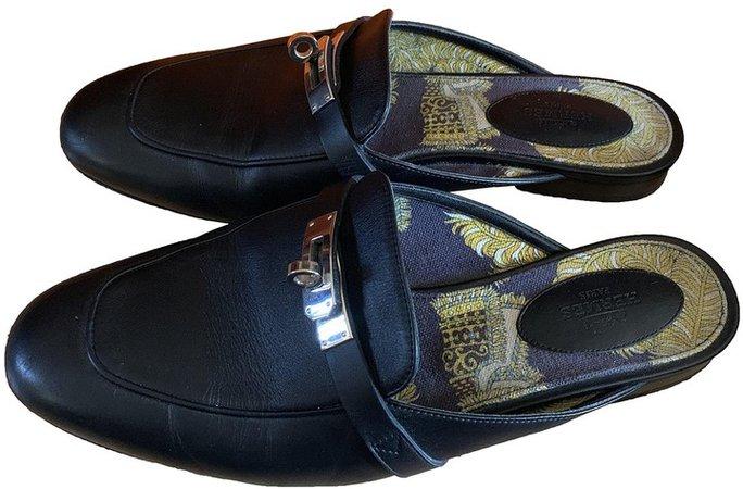 Oz Black Leather Sandals
