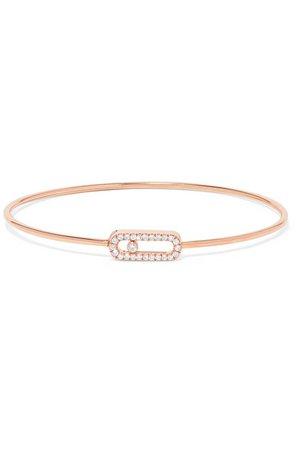 Messika | Move Uno 18-karat rose gold diamond bangle | NET-A-PORTER.COM