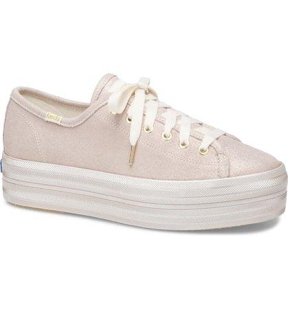 Keds® x kate spade new york triple up allover glitter sneaker (Women)   Nordstrom