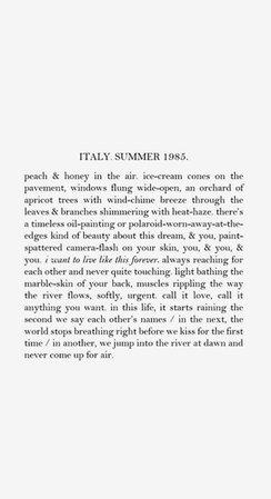 Italy summer text