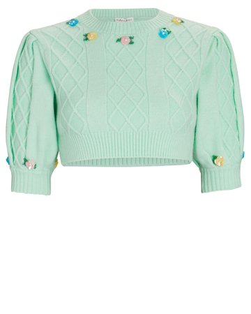 For Love & Lemons Sutton Floral Embroidered Sweater   INTERMIX®