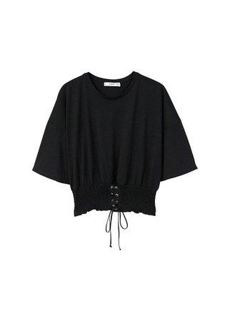 MANGO Corset detail t-shirt