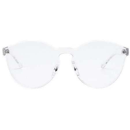 OWL - Colorful Transparent Round Retro Women's Fashion Designer Sunglasses Plastic Frame Clear Lens OWL - Walmart.com