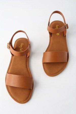 Taryn Tan Flat Sandals | Shoes flats sandals, Simple sandals, Cute shoes