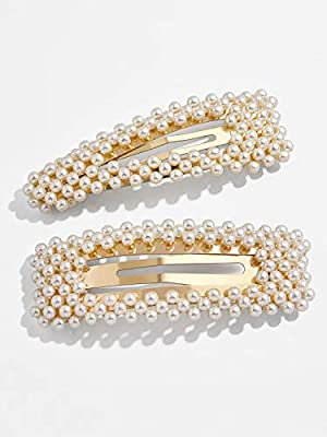 Amazon.com : KCHIES Pearl Hair Clips Gold for Women Girls Hair Barrettes Accessories for Wedding Party Decorative Faux Snap Hairpins Headpiece for Valentine's Birthday Mother's Day Gift Large Set : Beauty