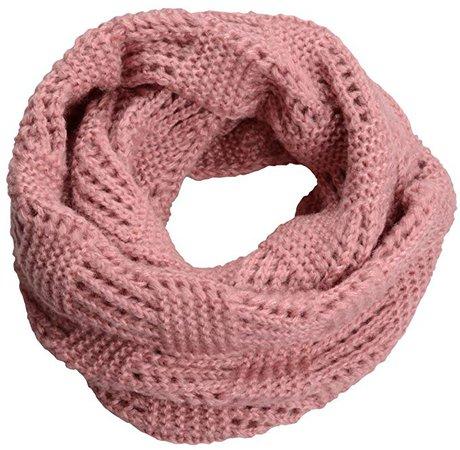 blush pink knit circle scarf