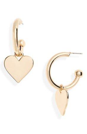 BP. Hoop Heart Drop Earrings | Nordstrom