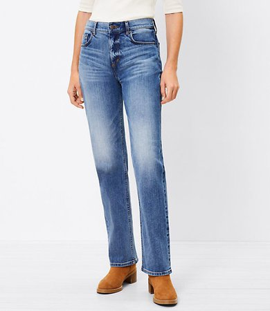 The Petite Fresh Cut High Waist Straight Crop Jean in Authentic Dark Indigo Wash