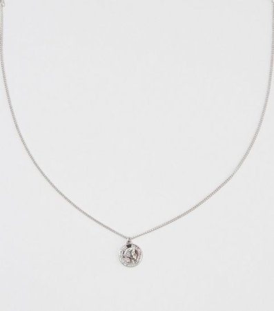 Silver Coin Pendant Necklace | New Look