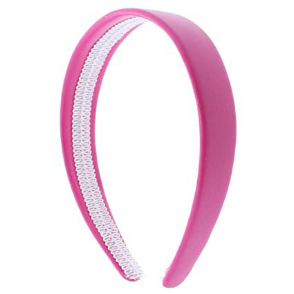 Amazon.com: Hot Pink 1 Inch Wide Leather Like Headband Solid Hair band for Women and Girls: Beauty