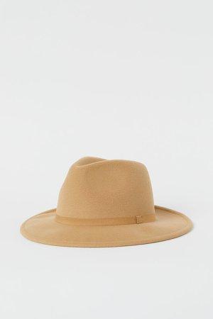 Felt Hat - Beige