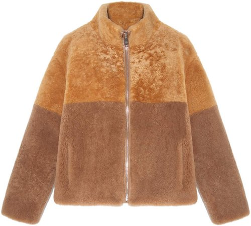 Pologeorgis The Everett Two-Tone Shearling Jacket
