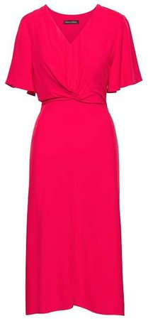 Twist-Front Tea Dress