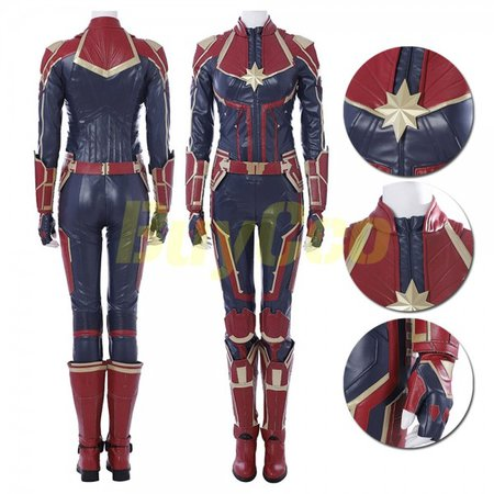 Captain Marvel Cosplay Carol Danvers Costume Red Edition