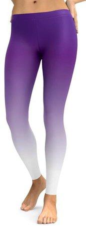 white and purple leggings