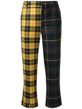 Monse tartan check cropped trousers multicolour MF200714HAT - Farfetch