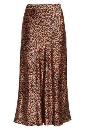Something Navy Midi Slip Skirt brown