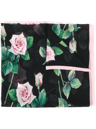 Dolce & Gabbana Tropical Rose Print Scarf - Farfetch