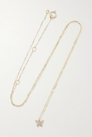 Gold Gold diamond necklace | STONE AND STRAND | NET-A-PORTER