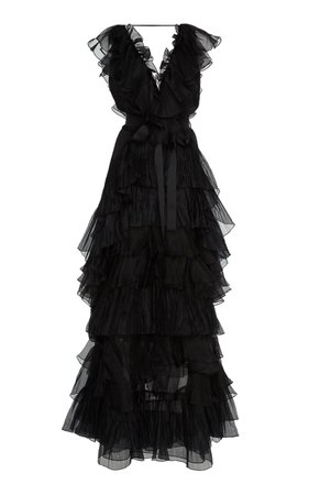 Melancholy Dance Ruffled Silk-Organza Gown by Johanna Ortiz   Moda Operandi