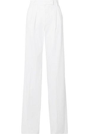 Max Mara   Messico pleated cotton-twill wide-leg pants   NET-A-PORTER.COM