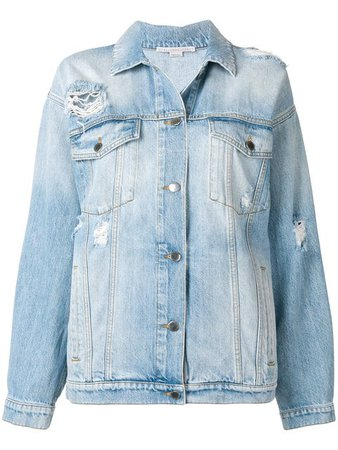 Stella McCartney oversized denim jacket $1,095 - Shop AW18 Online - Fast Delivery, Price