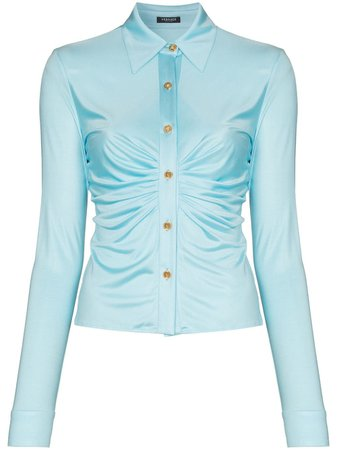 Versace ruched buttoned blouse - FARFETCH
