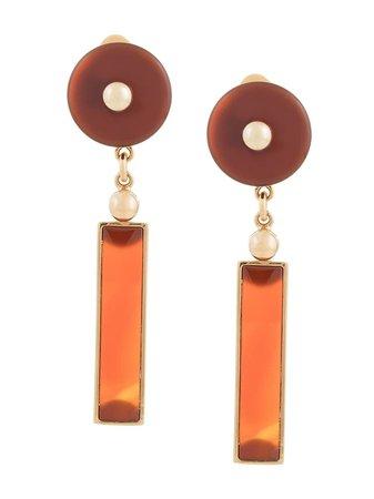 Crystalline Long Agate Earrings - Farfetch